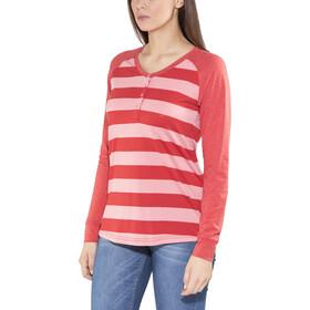 Bergans Ryvingen T-shirt à manches longues Femme, pale coral/pale red striped